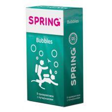 Презервативы SPRING BUBBLES с пупырышками - 9 шт.