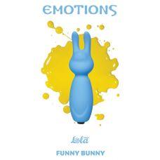 Голубой мини-вибратор Emotions Funny Bunny